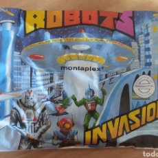 Figuras de Goma y PVC: SOBRE CERRADO DE MONTAPLEX ROBOTS INVASIÓN. Lote 286153178