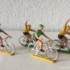 Figuras de Goma y PVC: LOTE 4 CICLISTAS - SOTORRES - AÑOS 70 - ¡MUY BUEN ESTADO!. Lote 286355753