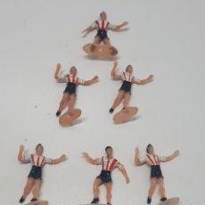 Figuras de Goma y PVC: LOTE ANTIGUAS FIGURAS DE FÚTBOL COMANSI. Lote 286642998
