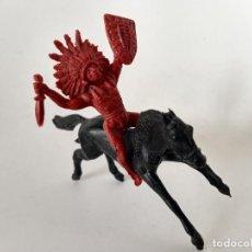 Figuras de Goma y PVC: FIGURAS INDIO PECH CAPELL. Lote 286681728