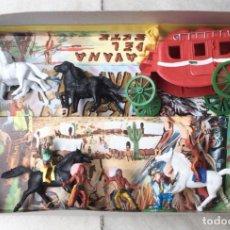 Figuras de Goma y PVC: CARAVANA DEL OESTE. M. SOTORRES. AÑOS 60. A ESTRENAR. Lote 286780613
