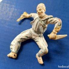 Figuras de Goma y PVC: FIGURA VAQUERO JECSAN PRIMERA ÉPOCA GOMA. Lote 286809833