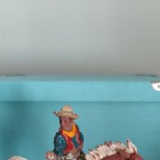 Figuras de Goma y PVC: VAQUERO LUKE Y CABALLO LAFREDO SERIE GRANDE AÑOS 50/60. Lote 286881203