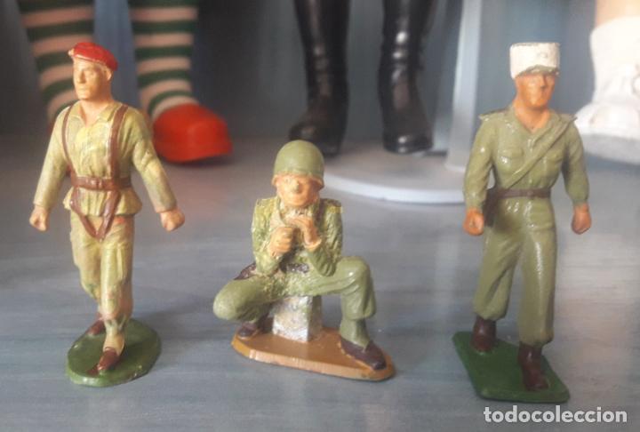 Figuras de Goma y PVC: LOTE 6 FIGURAS MILITARES SOLDADOS STARLUX - Foto 2 - 286883743