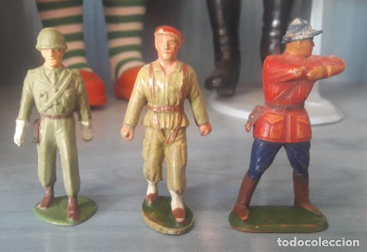 Figuras de Goma y PVC: LOTE 6 FIGURAS MILITARES SOLDADOS STARLUX - Foto 4 - 286883743