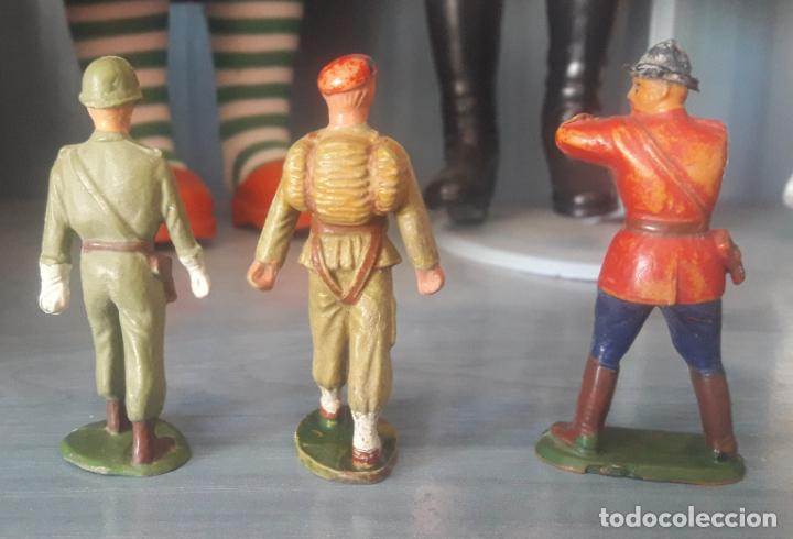 Figuras de Goma y PVC: LOTE 6 FIGURAS MILITARES SOLDADOS STARLUX - Foto 5 - 286883743
