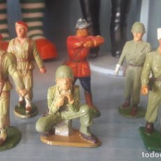 Figuras de Goma y PVC: LOTE 6 FIGURAS MILITARES SOLDADOS STARLUX. Lote 286883743