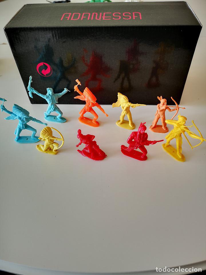 Figuras de Goma y PVC: GRAN LOTE DE FIGURAS PVC INDIOS Y VAQUEROS TIPO COMANSI - Foto 9 - 286928553