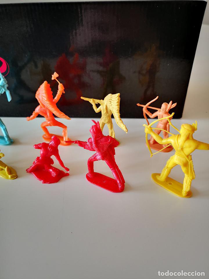 Figuras de Goma y PVC: GRAN LOTE DE FIGURAS PVC INDIOS Y VAQUEROS TIPO COMANSI - Foto 10 - 286928553