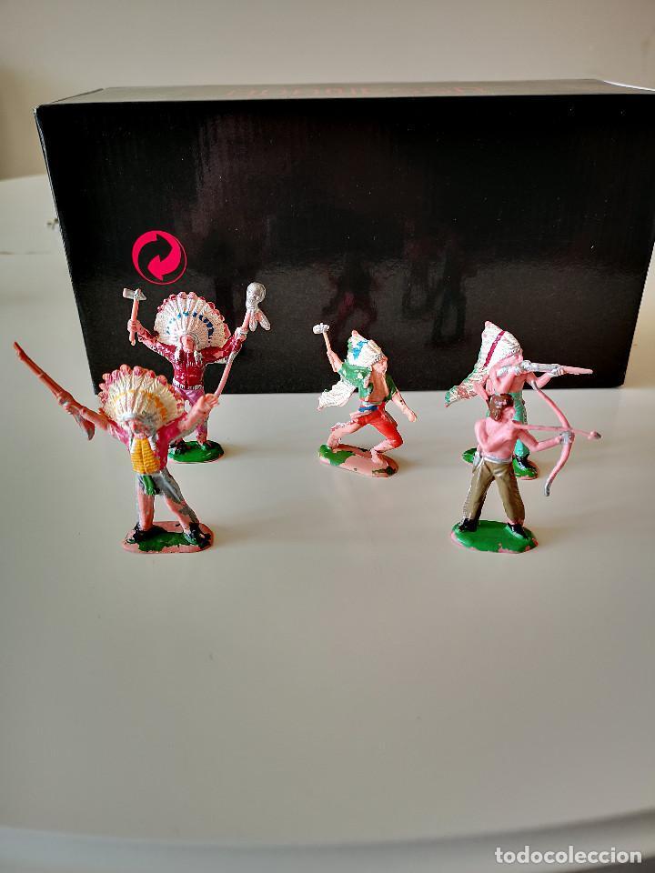 Figuras de Goma y PVC: GRAN LOTE DE FIGURAS PVC INDIOS Y VAQUEROS TIPO COMANSI - Foto 14 - 286928553