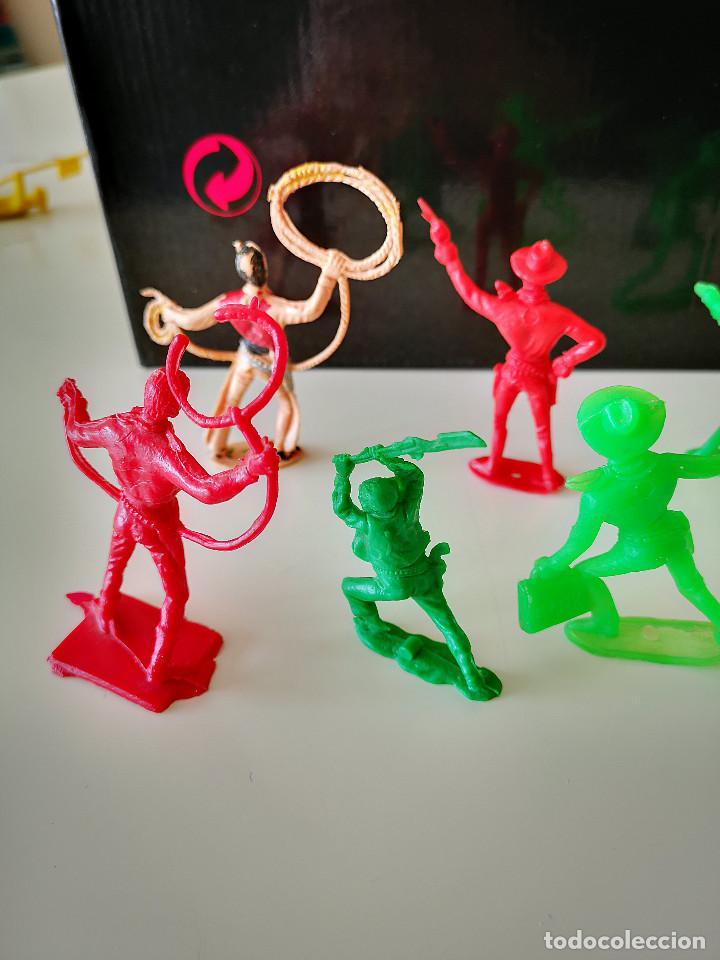 Figuras de Goma y PVC: GRAN LOTE DE FIGURAS PVC INDIOS Y VAQUEROS TIPO COMANSI - Foto 17 - 286928553