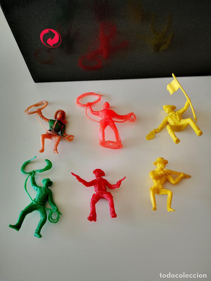 Figuras de Goma y PVC: GRAN LOTE DE FIGURAS PVC INDIOS Y VAQUEROS TIPO COMANSI - Foto 19 - 286928553