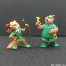 Figuras de Goma y PVC: ROBIN HOOD Y LITTLE JOHN, PERSONAJES DE DISNEY DE BULLYLAND. Lote 287008183