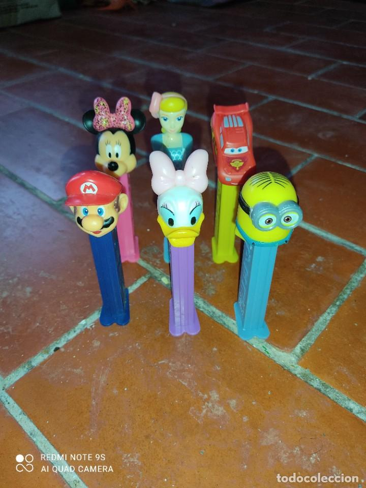 LOTE 6 DISPENSADORES PEZ,SUPERMARIO,MINNIE,CARS,MINION (Juguetes - Figuras de Gomas y Pvc - Dispensador Pez)