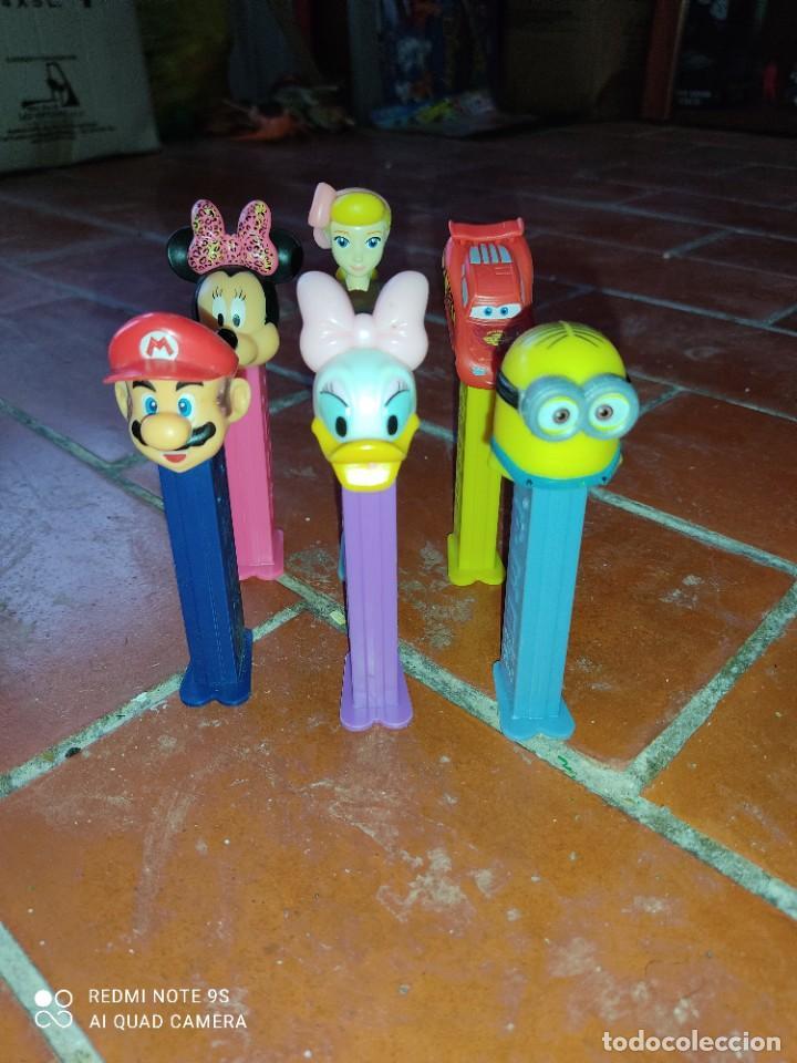 Dispensador Pez: Lote 6 dispensadores Pez,SuperMario,Minnie,Cars,Minion - Foto 2 - 287166628