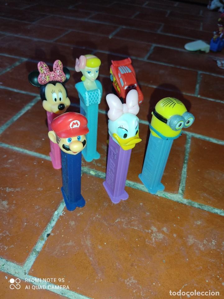 Dispensador Pez: Lote 6 dispensadores Pez,SuperMario,Minnie,Cars,Minion - Foto 3 - 287166628