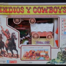 Figuras de Goma y PVC: JECSAN INDIOS Y COWBOYS CAJA. Lote 287167913