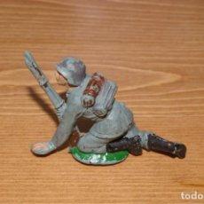 Figuras de Goma y PVC: SOLDADO ALEMAN DE PECH TAL COMO SE VE. Lote 287253238