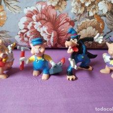 Figuras de Goma y PVC: LOS TRES CERDITOS Y EL LOBO BULLYLAND. Lote 287308473