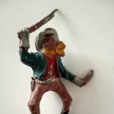 Figuras de Goma y PVC: FIGURA VAQUERO LAFREDO GOMA. Lote 287323223