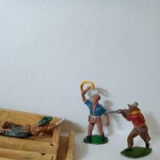 Figuras de Goma y PVC: COWBOYS PECH GOMA. Lote 287369398