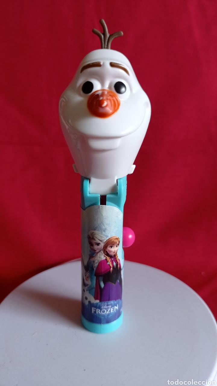 DISPENSADOR PEZ OLAF / PARA CHUPA - CHUPS / MUÑECO DE NIEVE / DE FROZEN DISNEY. (Juguetes - Figuras de Gomas y Pvc - Dispensador Pez)