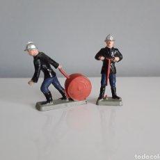 Figuras de Goma y PVC: BOMBEROS, POMPIERS DE STARLUX (FRANCE) AÑOS 60/70, ESCALA PEQUEÑA 35 MM. COMO LOS MARINES DE JECSAN.. Lote 287552848