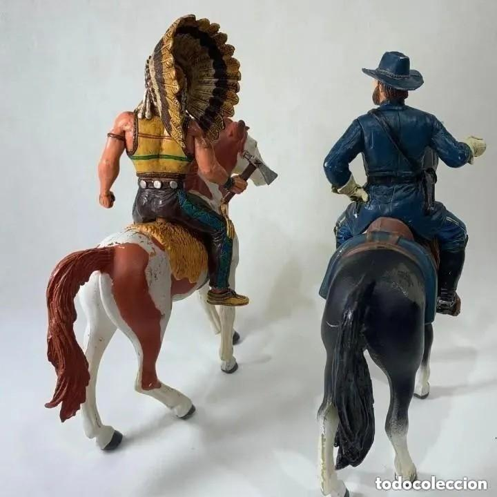 Figuras de Goma y PVC: COMANSI HÉROES OF THE WEST - JEFE INDIO + NATHAN MACKENZIE LOS DOS EN SU GRAN CABALLO - Foto 2 - 287581613