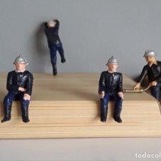 Figuras de Goma y PVC: BOMBEROS, POMPIERS DE STARLUX (FRANCE) AÑOS 60/70, ESCALA PEQUEÑA 35 MM. COMO LOS MARINES DE JECSAN.. Lote 287607838