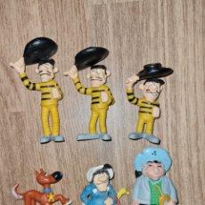 Figuras de Goma y PVC: LOTE FIGURAS PVC GOMA DALTON COLECCIÓN DE LUCKY LUKE SCHLEICH AÑO 84 MUÑECOS DIBUJOS ANIMADOS. Lote 287625048