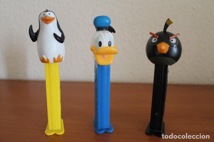 3 DISPENSADORES PEZ PATO DONALD PINGUINO DE MADAGASCAR ANGRY BIRD (Juguetes - Figuras de Gomas y Pvc - Dispensador Pez)