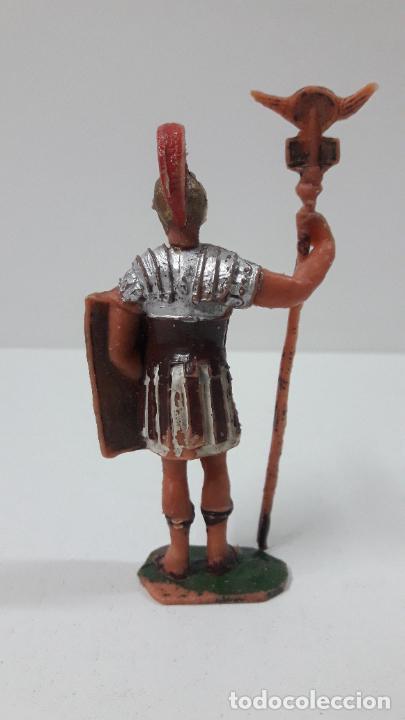 Figuras de Goma y PVC: LEGIONARIO ROMANO CON ESTANDARTE . REALIZADO POR JECSAN . SERIE IMPERIO ROMANO . ORIGINAL AÑOS 60 - Foto 2 - 287699603