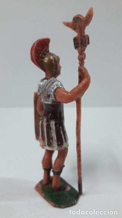 Figuras de Goma y PVC: LEGIONARIO ROMANO CON ESTANDARTE . REALIZADO POR JECSAN . SERIE IMPERIO ROMANO . ORIGINAL AÑOS 60 - Foto 3 - 287699603