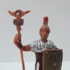 Figuras de Goma y PVC: LEGIONARIO ROMANO CON ESTANDARTE . REALIZADO POR JECSAN . SERIE IMPERIO ROMANO . ORIGINAL AÑOS 60. Lote 287699603