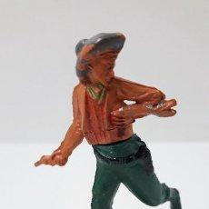 Figuras de Goma y PVC: VAQUERO HERIDO . REALIZADO POR GAMA . ORIGINAL AÑOS 50 EN GOMA. Lote 287735073