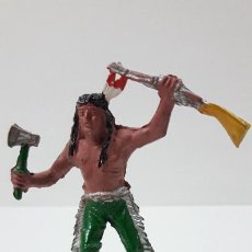 Figuras de Goma y PVC: GUERRERO INDIO . REALIZADO POR LAFREDO . ORIGINAL AÑOS 50 EN GOMA. Lote 287736028