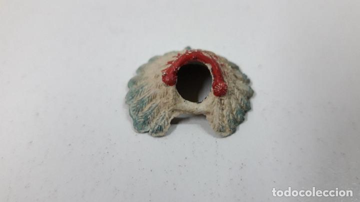 Figuras de Goma y PVC: PENACHO . REALIZADO POR JECSAN . SERIE SAFARI - INDIOS . ORIGINAL AÑOS 50 EN GOMA - Foto 3 - 287738263