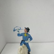 Figuras de Goma y PVC: JECSAN DOS BANDERAS. Lote 287739773