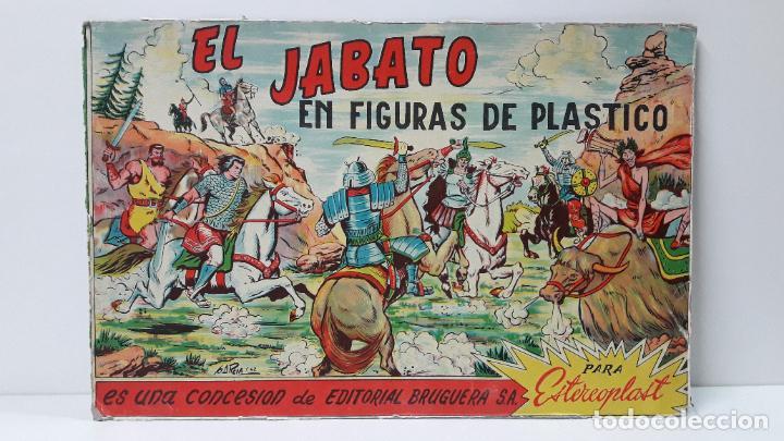 TAPA ORIGINAL DE LA CAJA DEL JABATO . REALIZADA POR ESTEREOPLAST - CONCESION BRUGUERA S.A. . AÑOS 60 (Juguetes - Figuras de Goma y Pvc - Estereoplast)