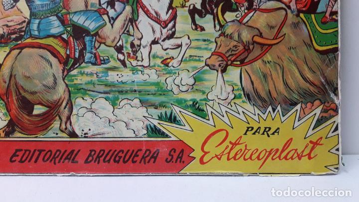 Figuras de Goma y PVC: TAPA ORIGINAL DE LA CAJA DEL JABATO . REALIZADA POR ESTEREOPLAST - CONCESION BRUGUERA S.A. . AÑOS 60 - Foto 3 - 287750353