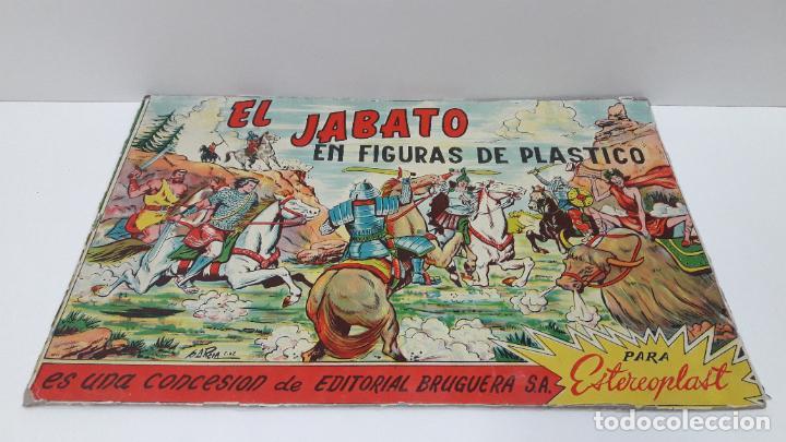 Figuras de Goma y PVC: TAPA ORIGINAL DE LA CAJA DEL JABATO . REALIZADA POR ESTEREOPLAST - CONCESION BRUGUERA S.A. . AÑOS 60 - Foto 4 - 287750353