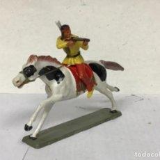 Figuras de Goma y PVC: FIGURA CABALLO TORDO INDIO STARLUX OESTW WESTERN NO REAMSA JECSAN COMANSI LAFREDO TEIXIDO BRITAINS. Lote 197966752