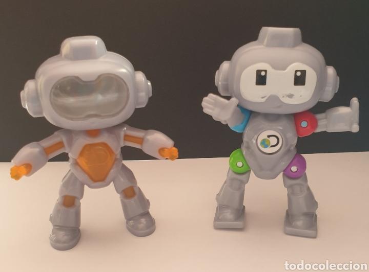 2 FIGURAS DE ROBOTS MINDBLOWN DISCOVERY MC DONALD'S 2019 ARTICULADO Y FIJO (Juguetes - Figuras de Goma y Pvc - Otras)
