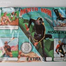 Figuras de Goma y PVC: SOBRE SORPRESA MONTAMAN EXTRA 3 SUBMARINISTA EXPLORADOR CAZADOR ESQUIADOR ALFREEDOM MONTAPLEX. Lote 287894798