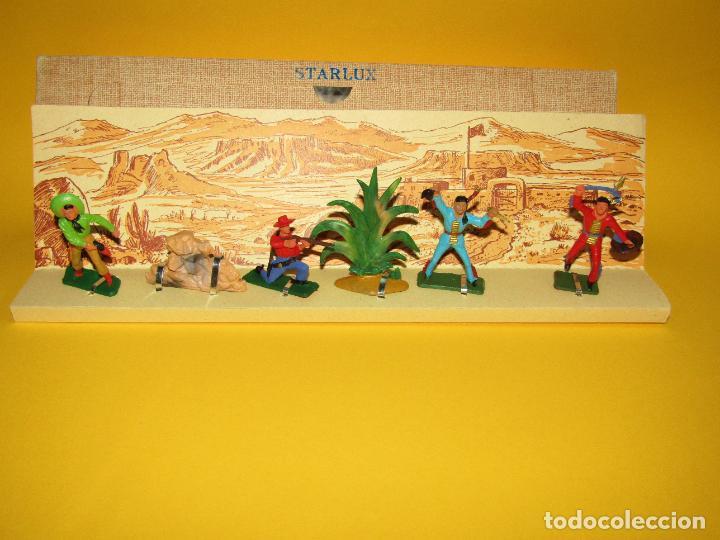 Figuras de Goma y PVC: Antigua Caja Set Completa y a Estrenar FAR WEST de STARLUX - Año 1960-70s. - Foto 2 - 287906833