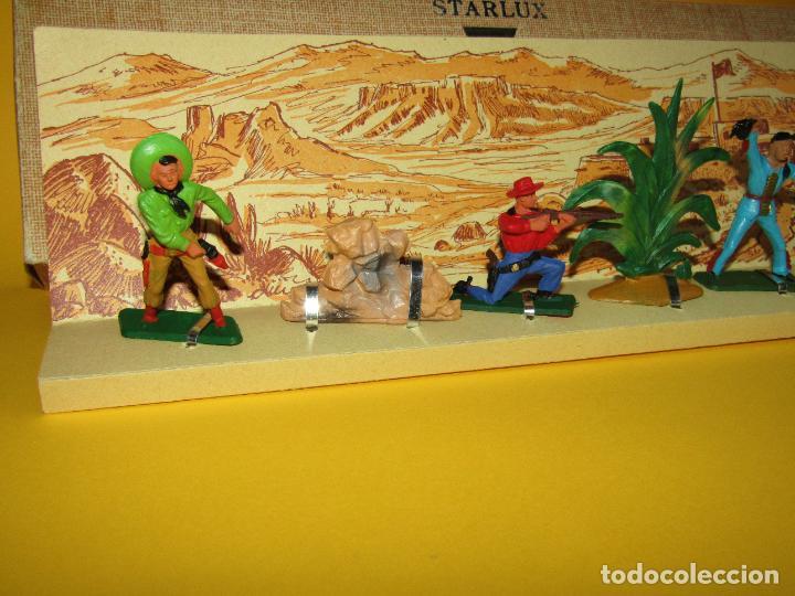 Figuras de Goma y PVC: Antigua Caja Set Completa y a Estrenar FAR WEST de STARLUX - Año 1960-70s. - Foto 3 - 287906833