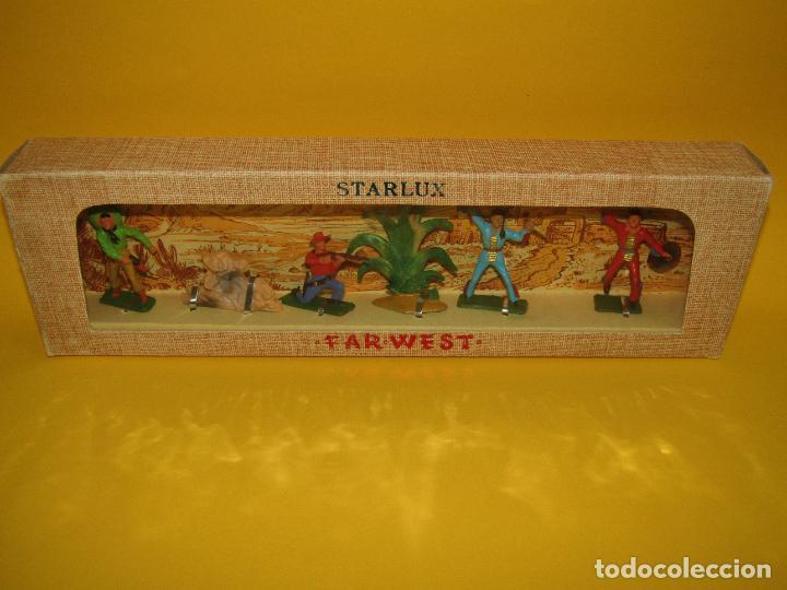 Figuras de Goma y PVC: Antigua Caja Set Completa y a Estrenar FAR WEST de STARLUX - Año 1960-70s. - Foto 5 - 287906833