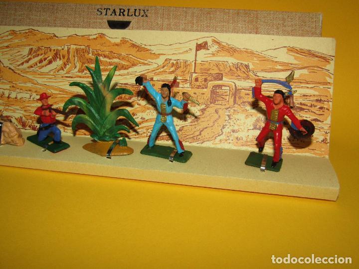 Figuras de Goma y PVC: Antigua Caja Set Completa y a Estrenar FAR WEST de STARLUX - Año 1960-70s. - Foto 6 - 287906833