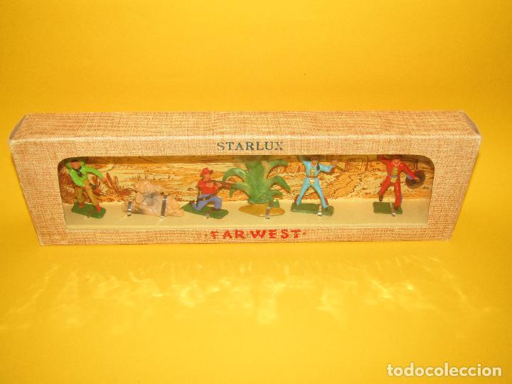 Figuras de Goma y PVC: Antigua Caja Set Completa y a Estrenar FAR WEST de STARLUX - Año 1960-70s. - Foto 7 - 287906833