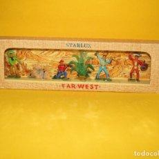 Figuras de Goma y PVC: ANTIGUA CAJA SET COMPLETA Y A ESTRENAR FAR WEST DE STARLUX - AÑO 1960-70S.. Lote 287906833